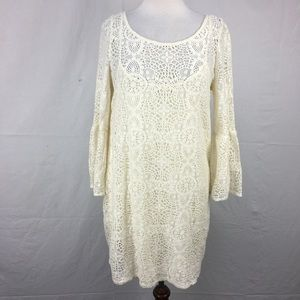 American Eagle Outfitters Lace Bell Sleeve Dress